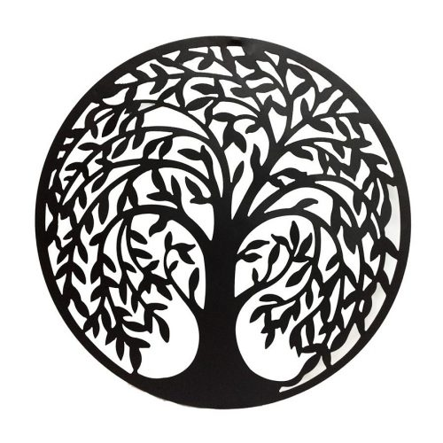 Large Black Laser Cut Tree Of Life Metal Wall Art