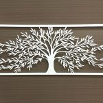 Large White Tree Of Life Metal Wall Art