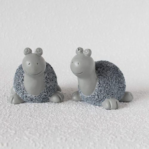 Set Of 2 Blue And Grey Resin Sea Turtle Figurine