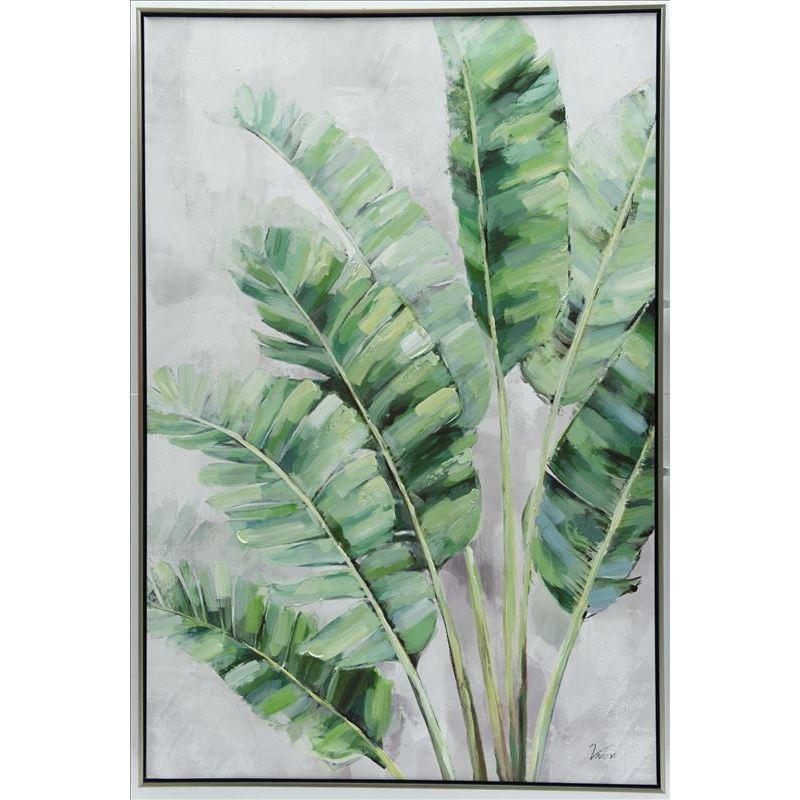Tree Green Leaves Framed Canvas Print Wall Art