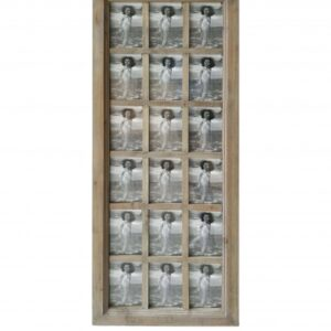 18 In 1 Natural Multi Collage Wooden Window Photo Frame