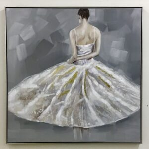 Abstract Girl Back Framed Canvas Print Wall Art