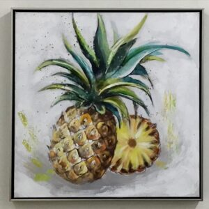 Abstract Pineapple Framed Kitchen Canvas Print Wall Art