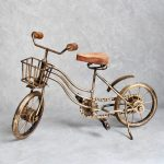 Antique Gold Vintage Bike Bicycle Ornament With Basket