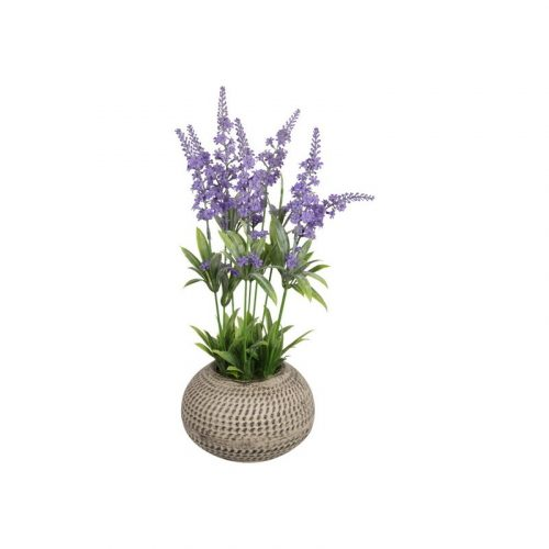 Artificial Lavender Flowers Plant in Moroccan Pot Planter