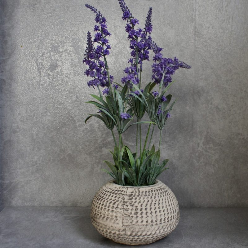 Artificial Lavender Flowers Plant in Moroccan Pot Planter