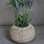 Artificial Lavender Flowers Plant in Moroccan Pot Planter_1