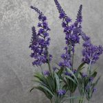Artificial Lavender Flowers Plant in Moroccan Pot Planter_2