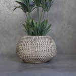 Artificial Lavender Flowers Plant in Moroccan Pot Planter_3