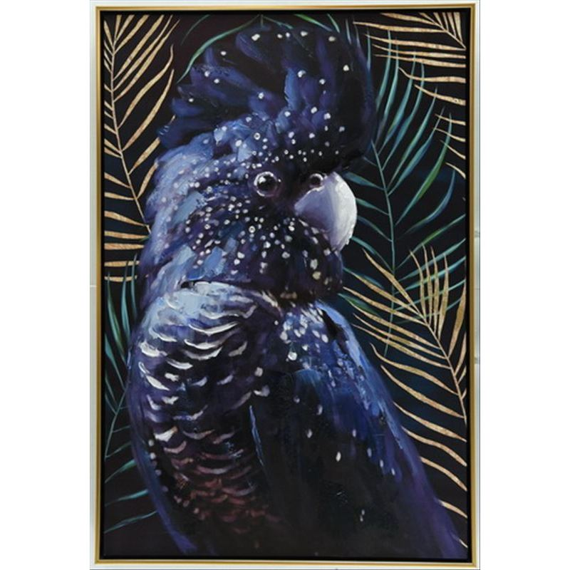 Australian Cockatoo Bird Framed Canvas Print Wall Art