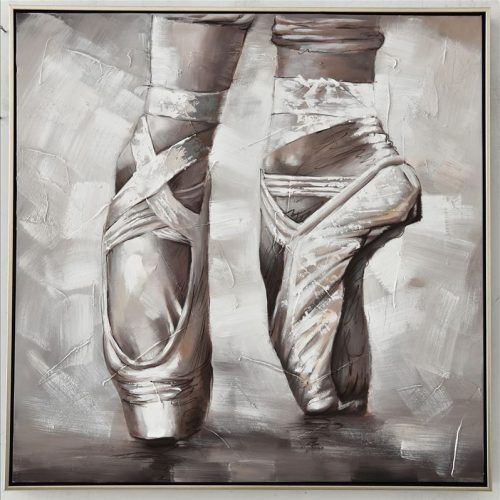 Ballerina Tippy Toes Framed Canvas Print Wall Art