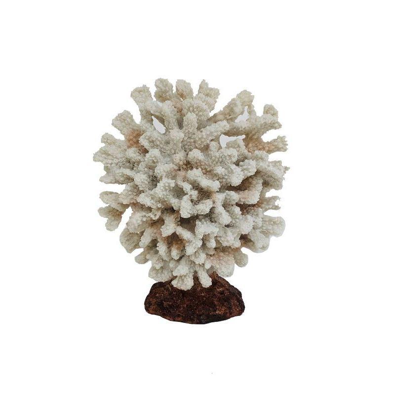 Coastal White Faux Coral Resin Decorative Ornament