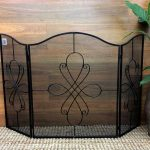 Floral Fire Place Screen Guard 3 Panel Decorative Shield