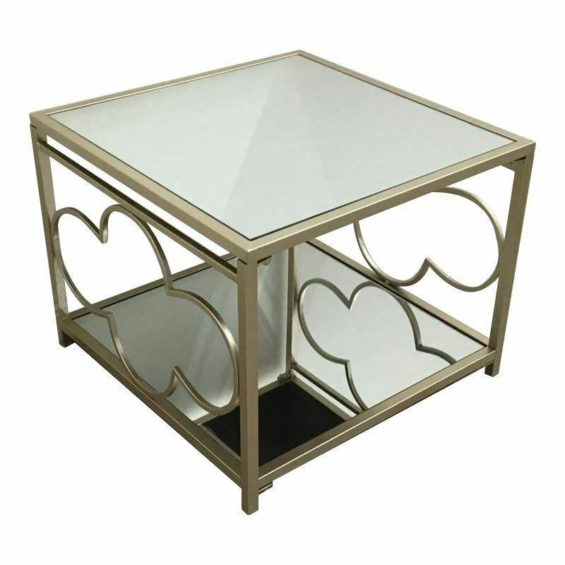 Sensational Julie Vintage Metal Mirror Side Coffee Tables Black Uwap Interior Chair Design Uwaporg