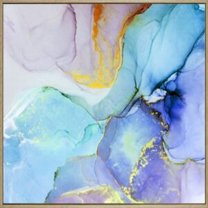 Marble Framed Canvas Print Wall Art - Set of 2