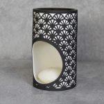 Modern Black And White Scallops Porcelain Oil_3