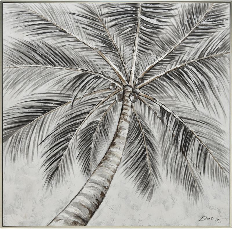 Tropical Palm Tree Framed Canvas Print Wall Art
