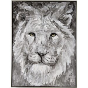 Beautiful Lion Framed Oil Painting Canvas Wall Art