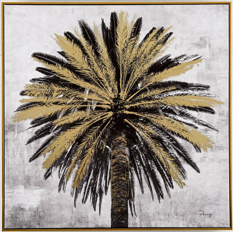 Beneath A Palm Tree Framed Canvas Print Wall Art