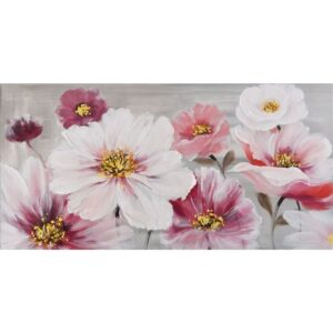 Blooming Flowers Floral Framed Canvas Print Wall Art