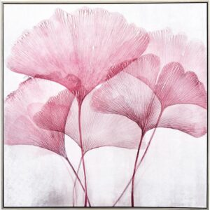 Bloomy Pink Flowers Floral Framed Canvas Print Wall Art
