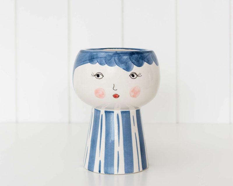 Blushing Lady Face Pot Planter