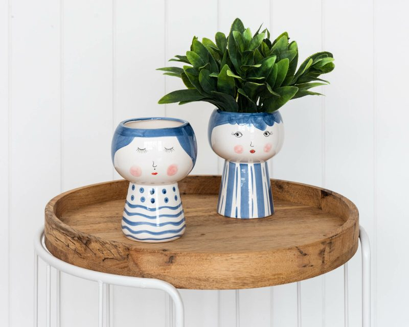 Blushing Lady Face Pot Planter