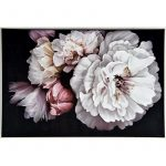 Bunch of Pink Flowers Framed Canvas Print Wall Art