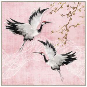 Flying Birds Framed Canvas Print Wall Art