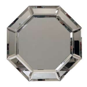Large Clear Modern Octagon Wall Mirror