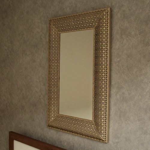 Large Gold Moroccan Rectangle Wall Hanging Mirror