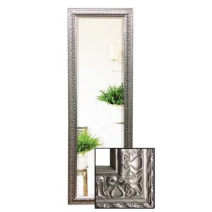 Large Luxe Silver Ornate Full Length Dressing Mirror