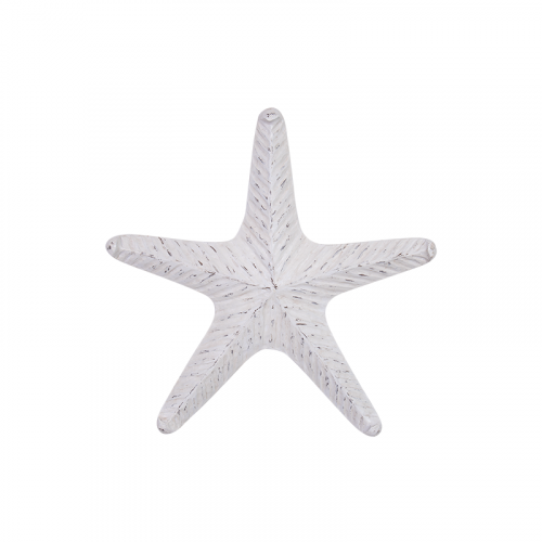 Large White Sea Ocean Starfish Metal Wall Art