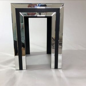 Luxe Mirror Nightstand Bed Side Table