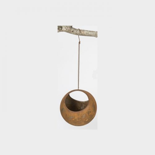Rusty Metal Hanging Planter