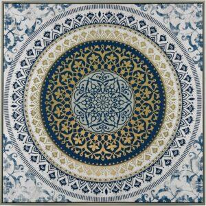 Moroccan Mandala Framed Canvas Print Wall Art