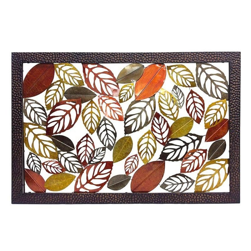 Orange Leaves Extra Large Metal Wall Hanging Art