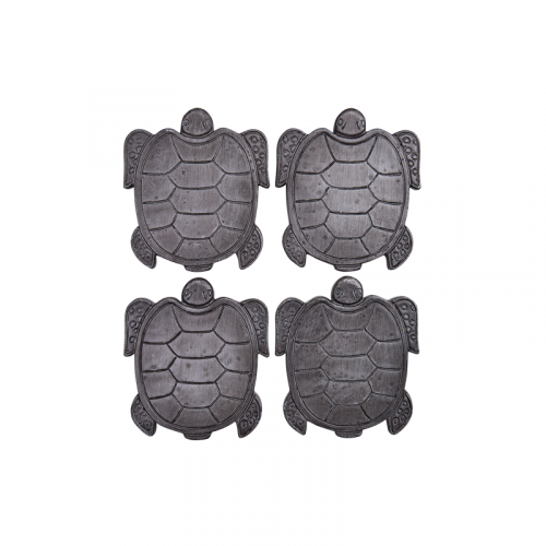 Set of 4 Grey Turtle Tortoise Drink Coasters