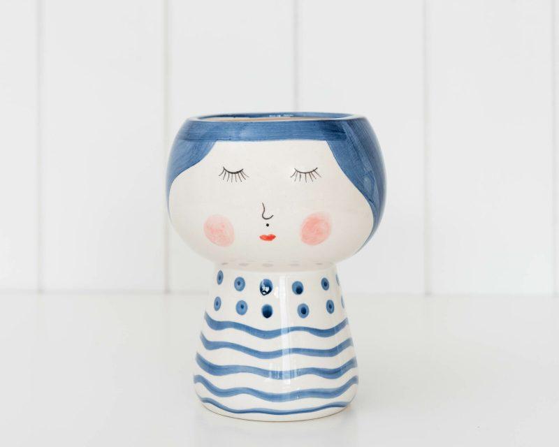 Shy Girl Face Pot Planter