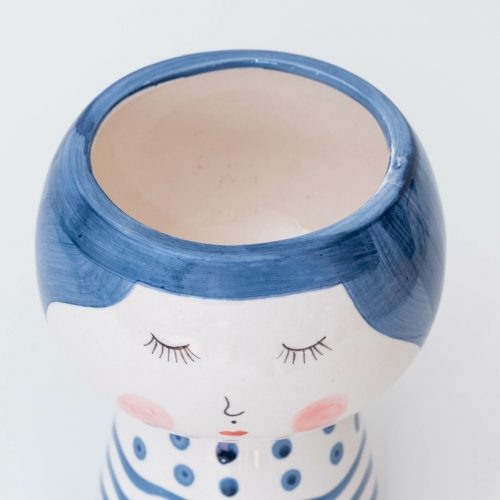 Shy Girl Face Pot Planter