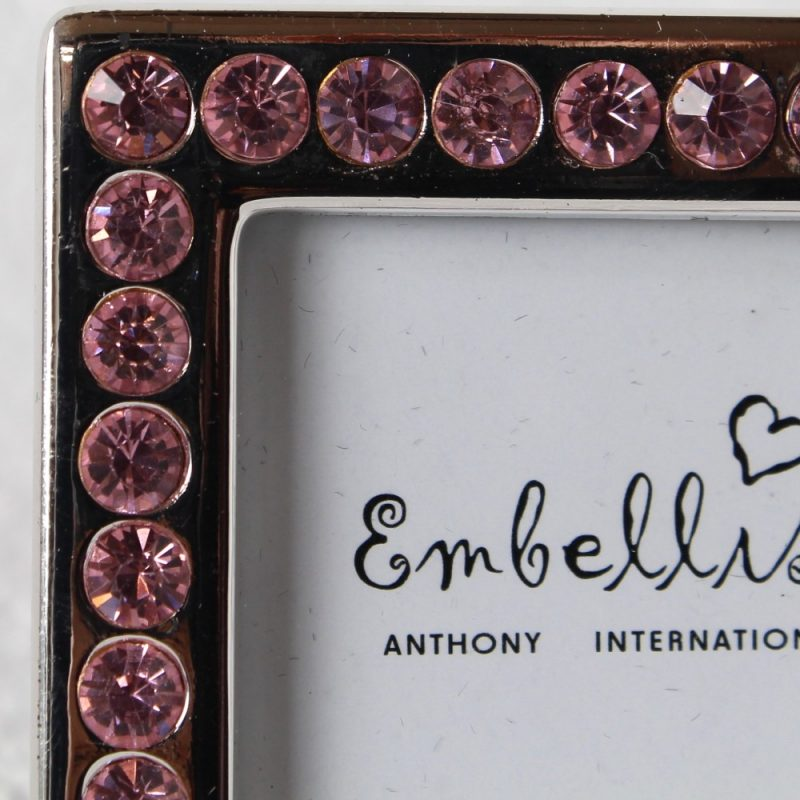 Silver Photo Frame With Pink Stones