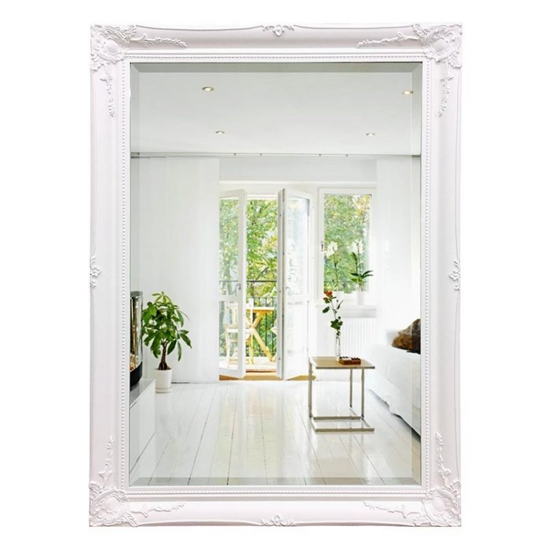 White French Mirror – Ornate Rectangle Wall Mirror
