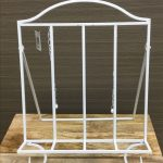 White Metal Cook Book Stand Recipe Holder