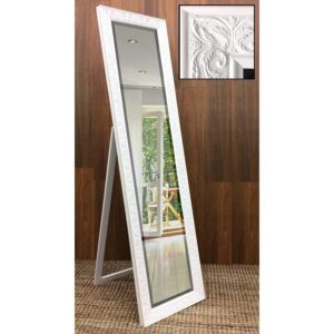 Silver Ornate Full Length Free Standing Cheval Mirror
