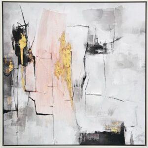 Abstract Pink Blush Framed Canvas Print Wall Art