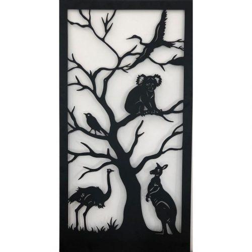 Australian Animals And Birds Metal Wall Hanging Art