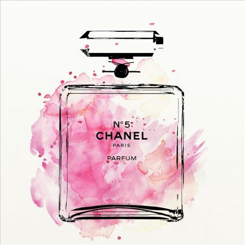 Chanel Perfume Bottle Framed Canvas