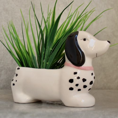 Dachshund Sausage Dog Ceramic Pot Planter
