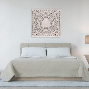 Large Boho Mandala White Panel Wall Art_2