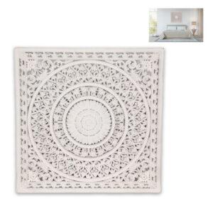 Large Boho Mandala White Panel Wall Art